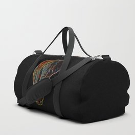 Colourful Neon Elephant Duffle Bag