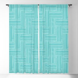 Woven Bamboo Texture Sea Green Blackout Curtain