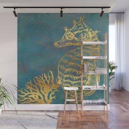 Deep Sea Life Seahorse Wall Mural