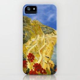Vintage Amalfi Italy Travel iPhone Case