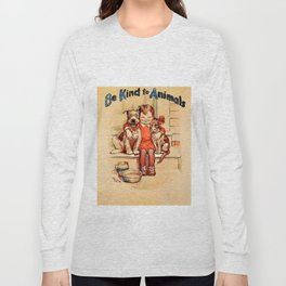 Vintage Be Kind To Animals - Girl Long Sleeve T-shirt