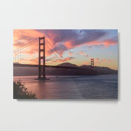 Golden Gate at sunset Metal Print