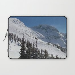 Mountains color palette of white-black-blue Laptop Sleeve