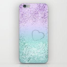 Sparkling MERMAID Girls Glitter Heart #1 #decor #art #society6 iPhone Skin