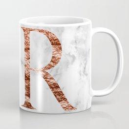 Monogram rose gold marble R Coffee Mug