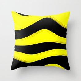 Hot Wavy B Throw Pillow