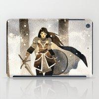 warrior iPad Cases featuring Warrior by Pauliina Hannuniemi
