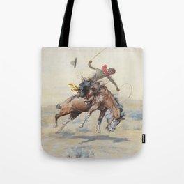 C.M. Russell The Bucker Vintage Western Art Tote Bag