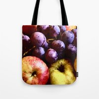 fruits Tote Bags featuring FRUITS by MehrFarbeimLeben