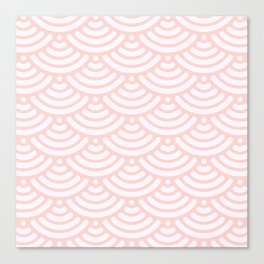 Pink Coral Mermaid Scales Bold Canvas Print