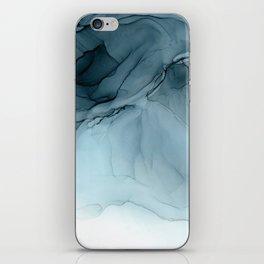 Blue Ocean Fog Calming Abstract 2 iPhone Skin