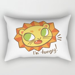 Baby Big Cats Hungry Lion Rectangular Pillow