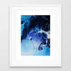 Indigo watercolor Framed Art Print
