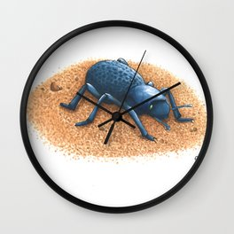Blue Death Feigning Beetle Wall Clock