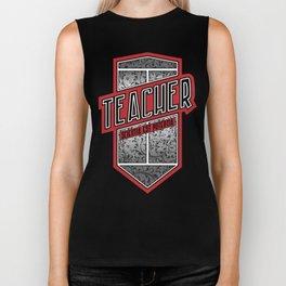 Teacher Shield Biker Tank
