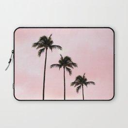 Palm Tree Photography Peach   Blush Pink   Millennial Pink   Miami Laptop Sleeve