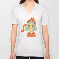 CAT BONNET Unisex V-Neck