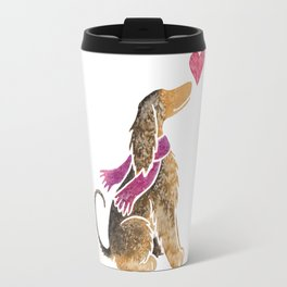 Watercolour Afghan Hound Travel Mug