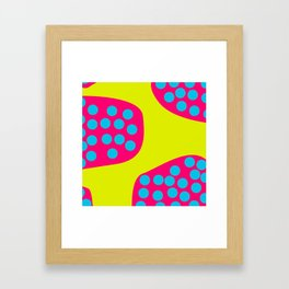 Green Purple Dots Framed Art Print