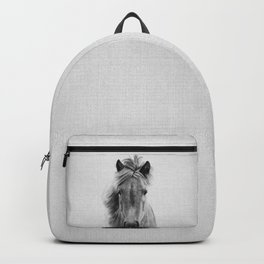 Wild Horse - Black & White Backpack