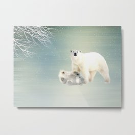 Arctic Family Metal Print