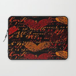 Kiss Me, Miss Me Red Laptop Sleeve