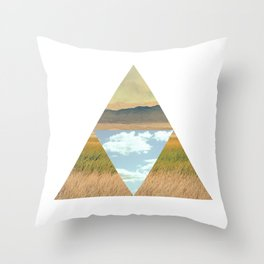 THREE EDGE PHYSICAL WORLD Throw Pillow