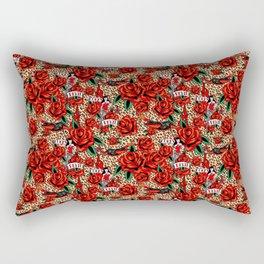 lucky devil pinup Rectangular Pillow