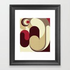 5 Colors Composition (#1) Framed Art Print