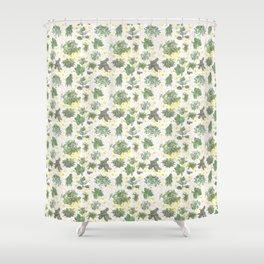 Salad Floral Shower Curtain