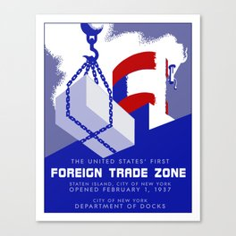 New York Foreign Trade Zone port authority Canvas Print
