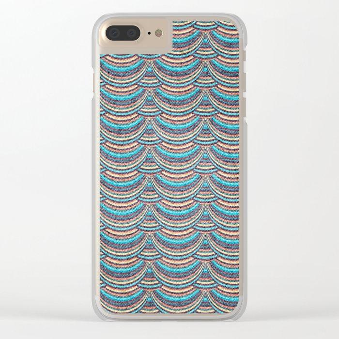 Geometric Pattern XI Clear iPhone Case