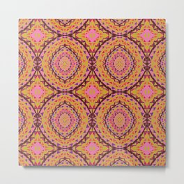 Mosaique rose Metal Print