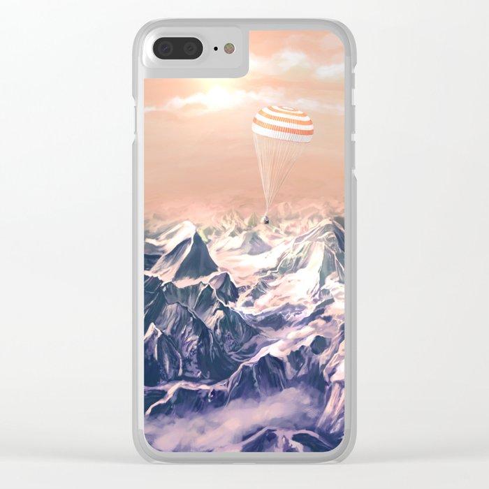 Astronaut Returns II Clear iPhone Case
