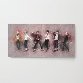 "B.A.P. ""Wake Me Up"" Dance Study Metal Print"