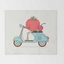 Cherry Tomato Throw Blanket