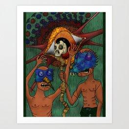 What Masks? Art Print