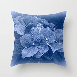 Hydrangea in Blue Throw Pillow