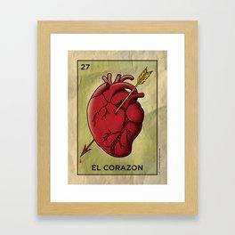 El Corazon Framed Art Print