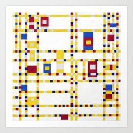 Piet Mondrian Broadway Boogie Woogie Art Print