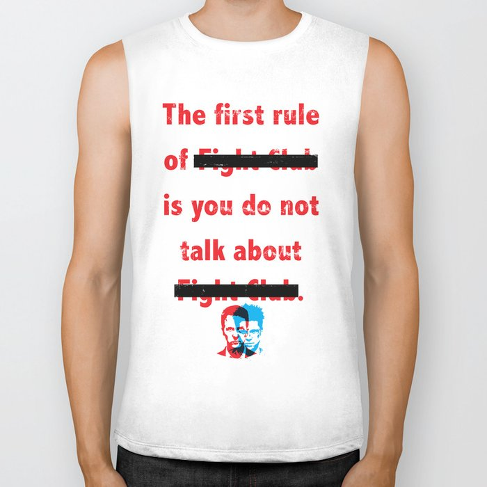 The First Rule of Fight Club... Biker Tank