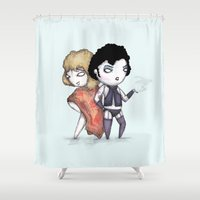 bill Shower Curtains featuring Bill & Frank by Ludwig Van Bacon