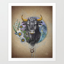 Taurus - Zodiac Sign Art Print