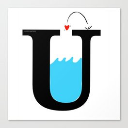 Love Underwater Canvas Print