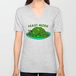 Feast Mode Thanksgiving Unisex V-Neck