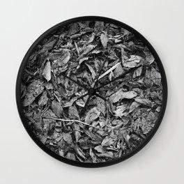 Fall Monochrome Wall Clock