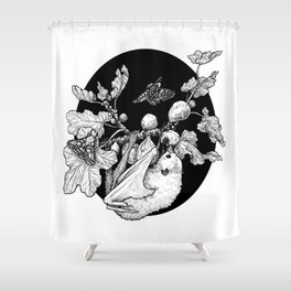 Fig Tree and the Fruit Bat Shower Curtain