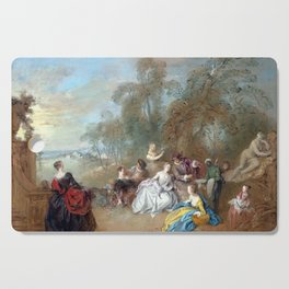 Jean-Baptiste Pater On the Terrace Cutting Board