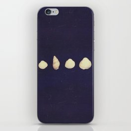seashells on a dark background iPhone Skin