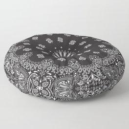 Paisley - Bandana - Black - Southwestern Art Floor Pillow